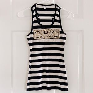 G by Guess Racer Back Tank Top